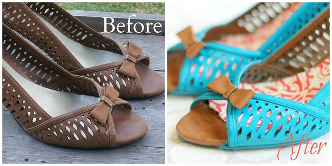 Spray painted shoes