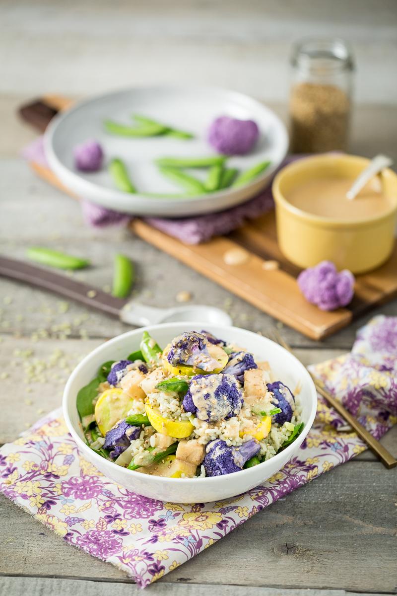 veggie kohlrabi bowl