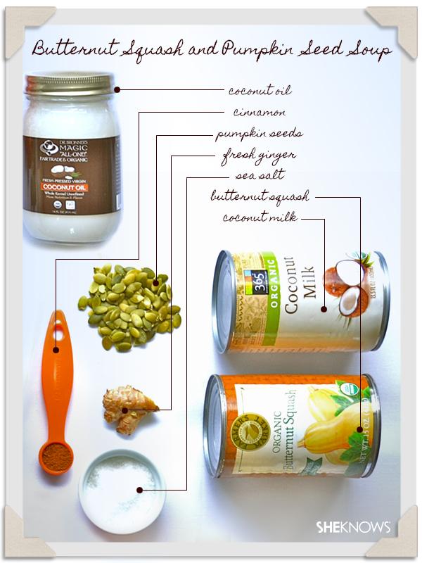 Dinner: Butternut Squash and Pumpkin Seed Soup