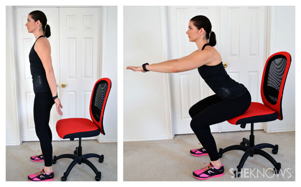 Image result for Chair squats: office