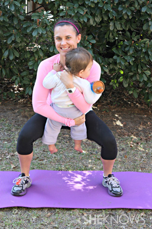 Squat-with-baby