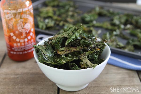 Sriracha kale chips recipe