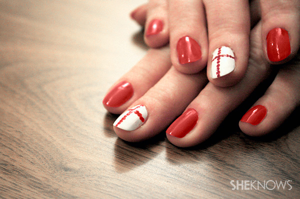 St. George's Day nail polish tutorial