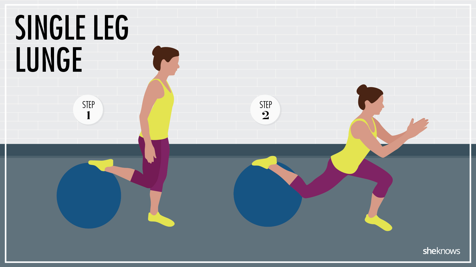 Stability ball lunge