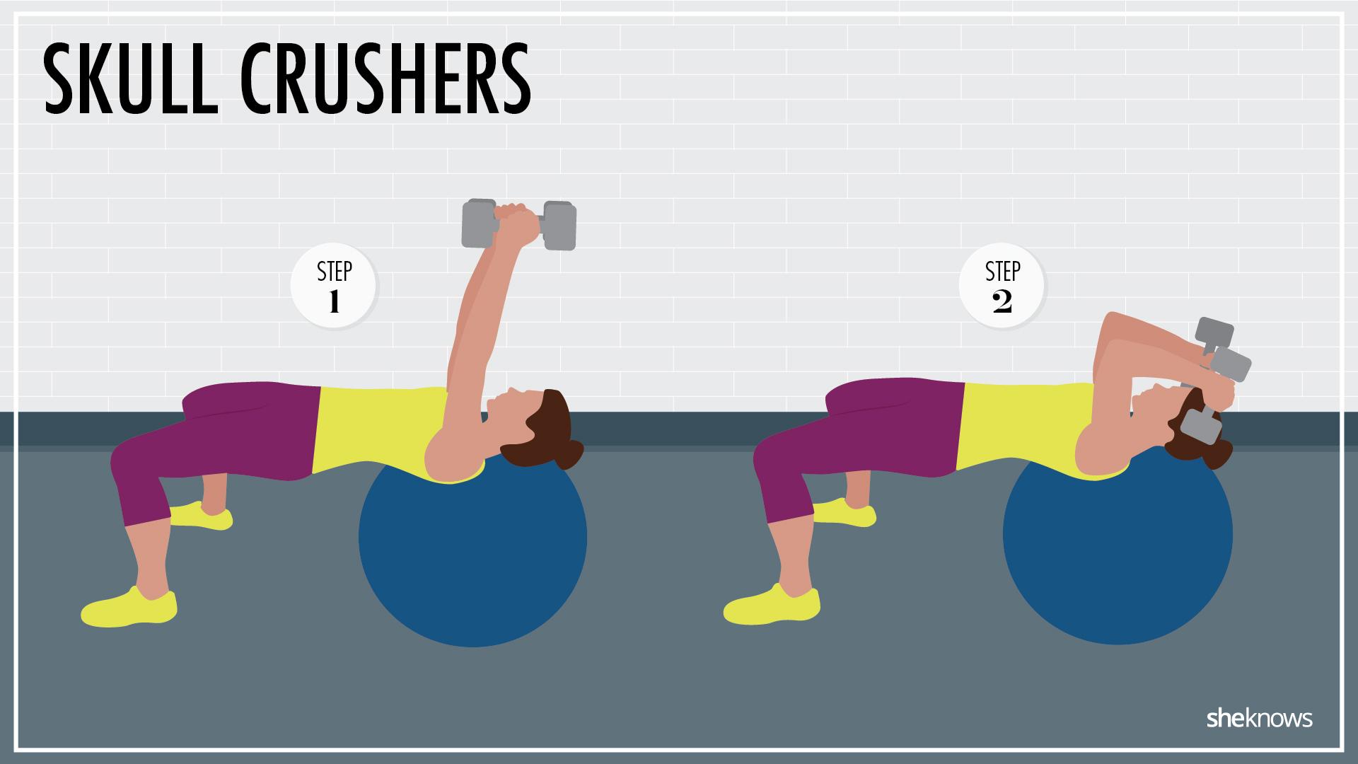 Unstable triceps skullcrushers