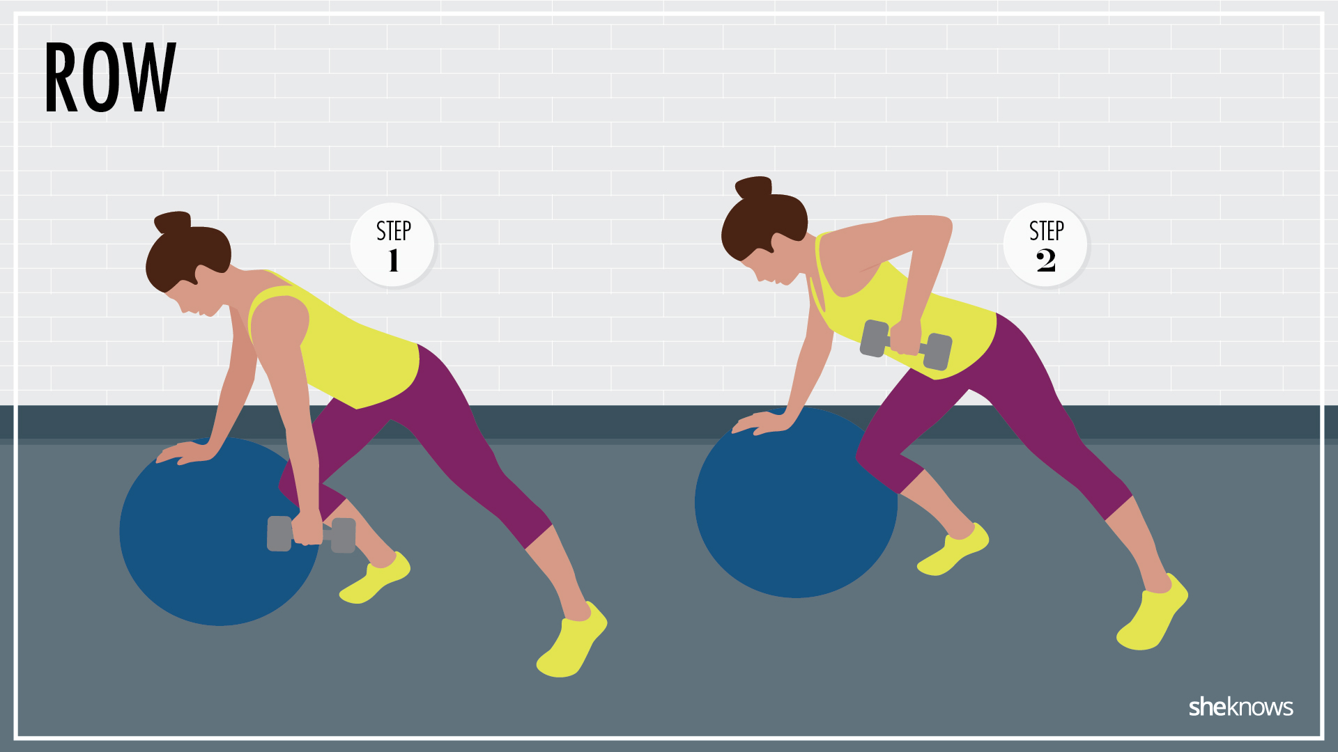 Unstable dumbbell row