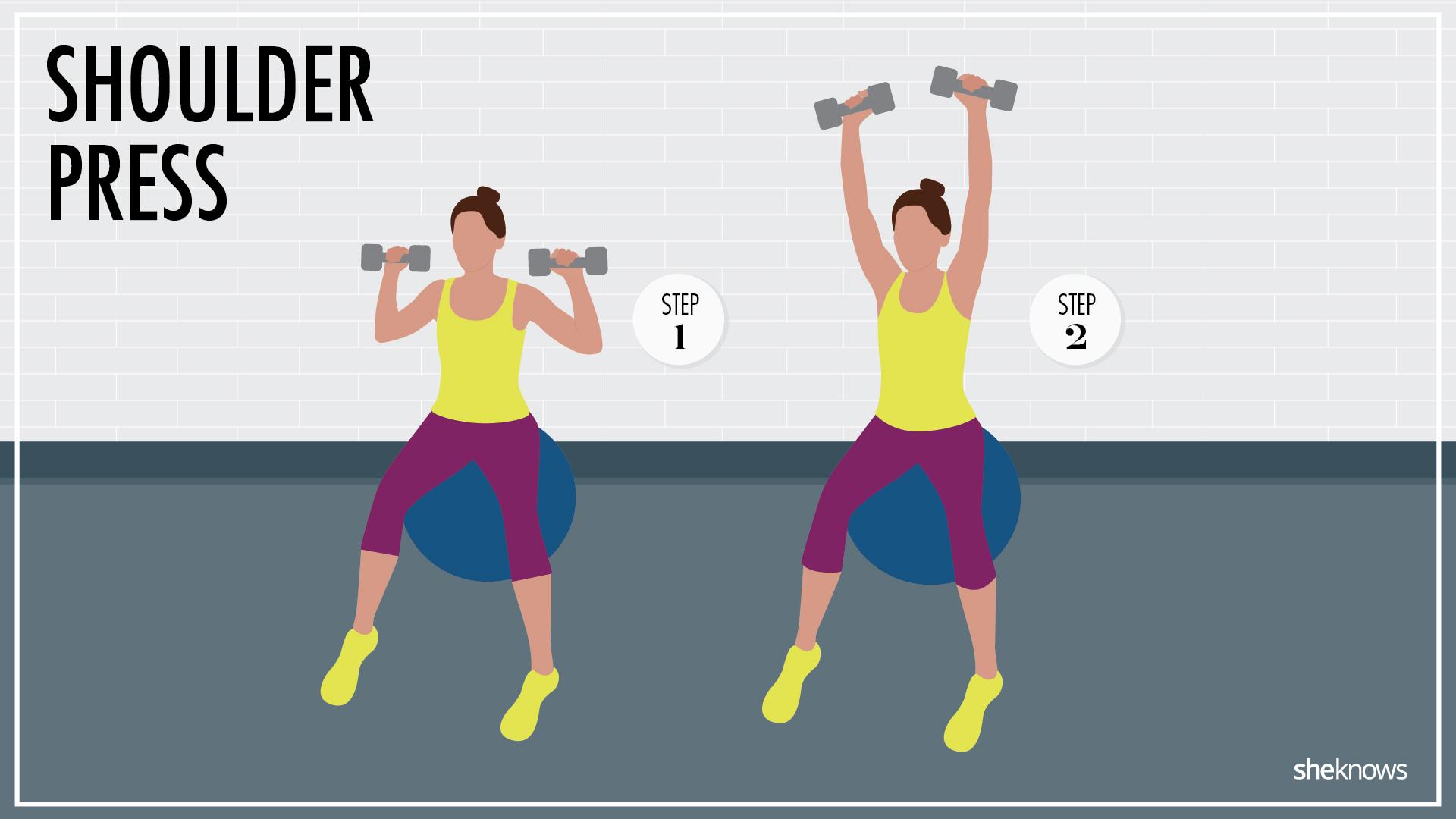 Unstable shoulder press
