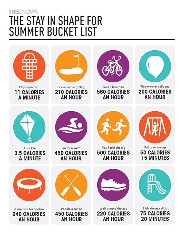 The Stay In Shape Summer Bucket List