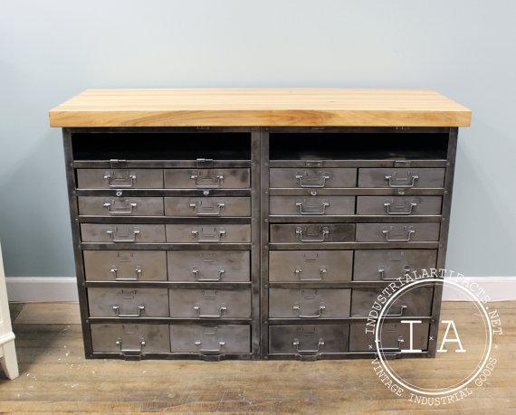 Steel double cabinet kitchen island