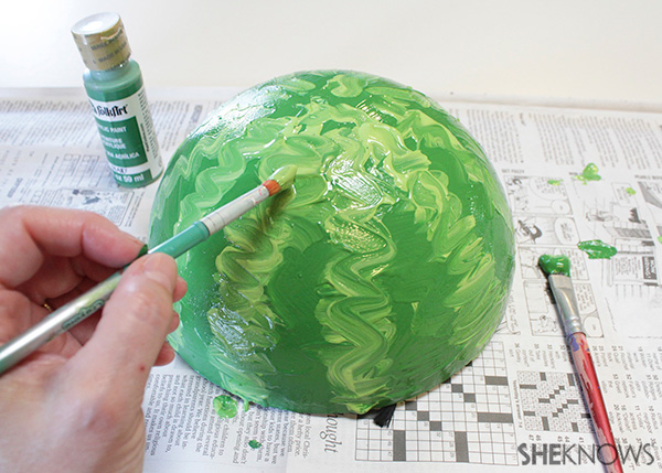 Mail a watermelon! Step 3 paint on details