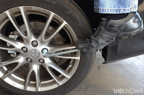 Changing a tire Step 5