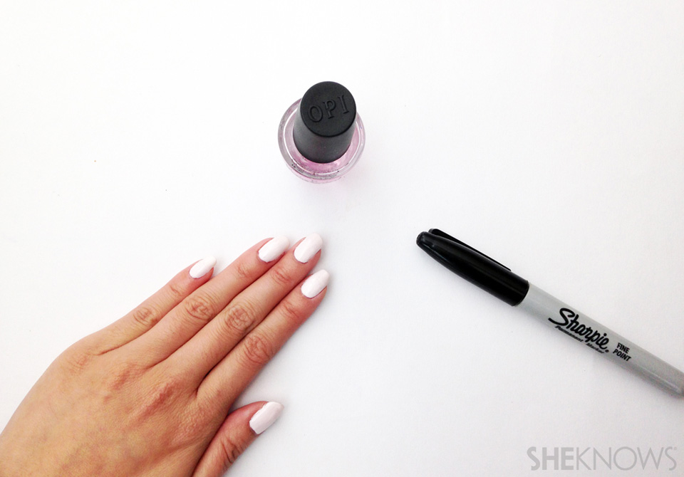 Movember mustache nail art: Step 1 Prep nails