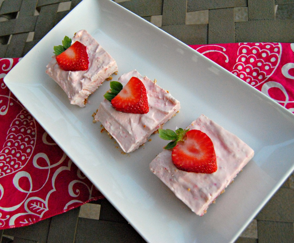 strawberry margarita squares
