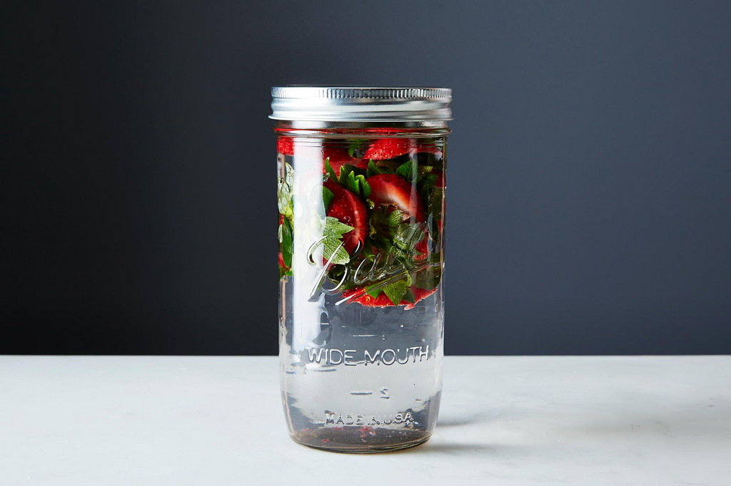strawberry tops infused water