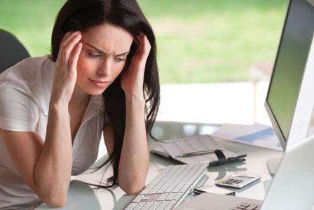 Stresssed woman