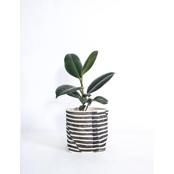 Best Planters on Etsy | Stripe Planter Cozy