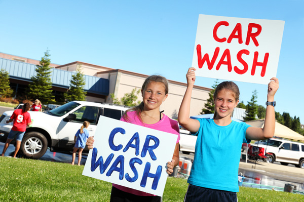 Student car wash fundraiser