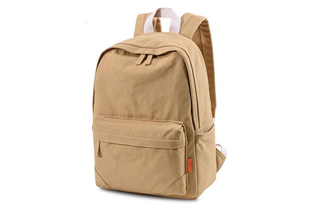 Canvas backpack on a white background