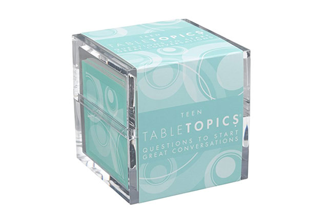TableTopics teen card game box on a white background