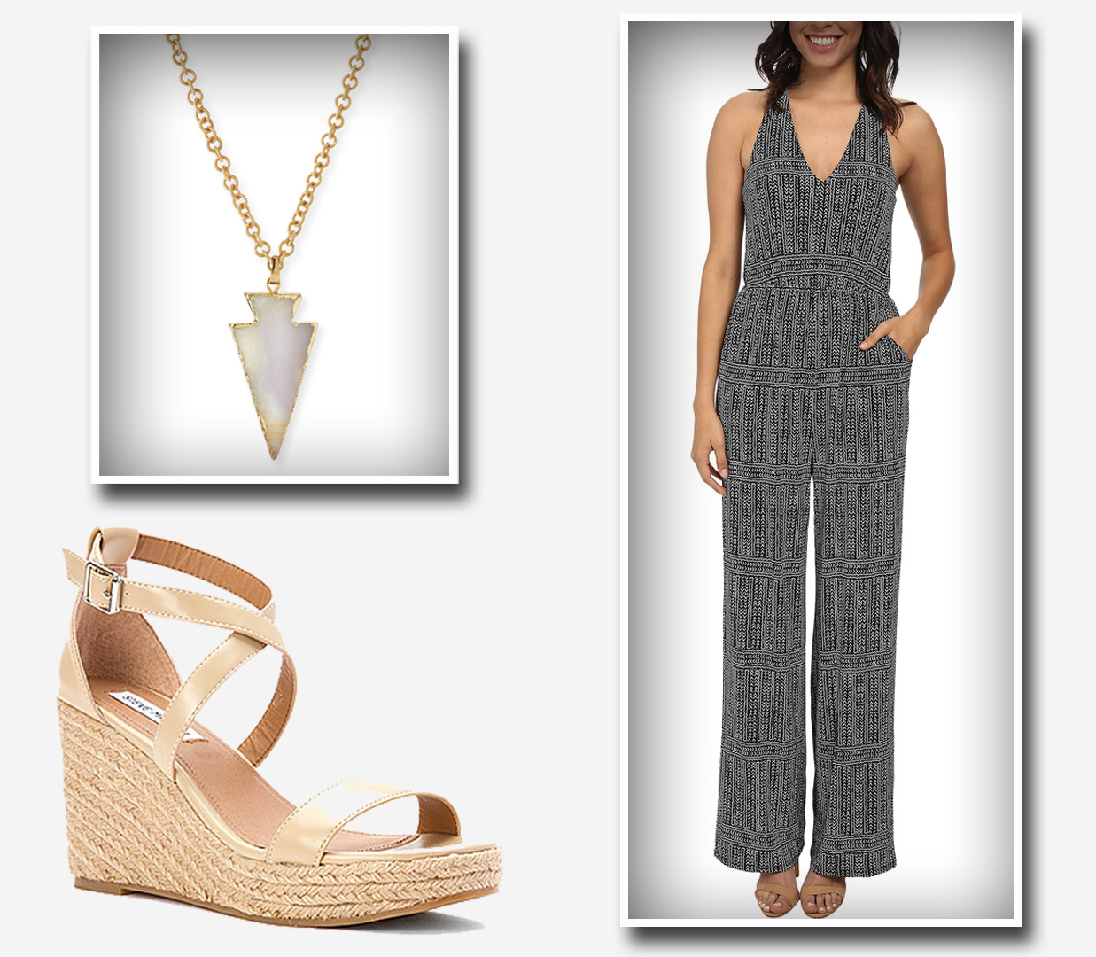 Jumpsuit with sexy wedges