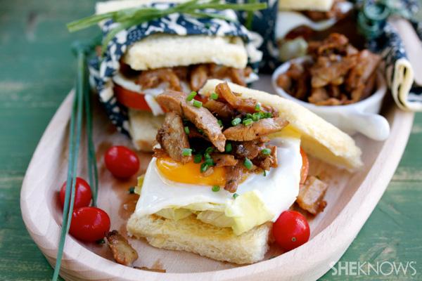 Super chicken adobo sandwich
