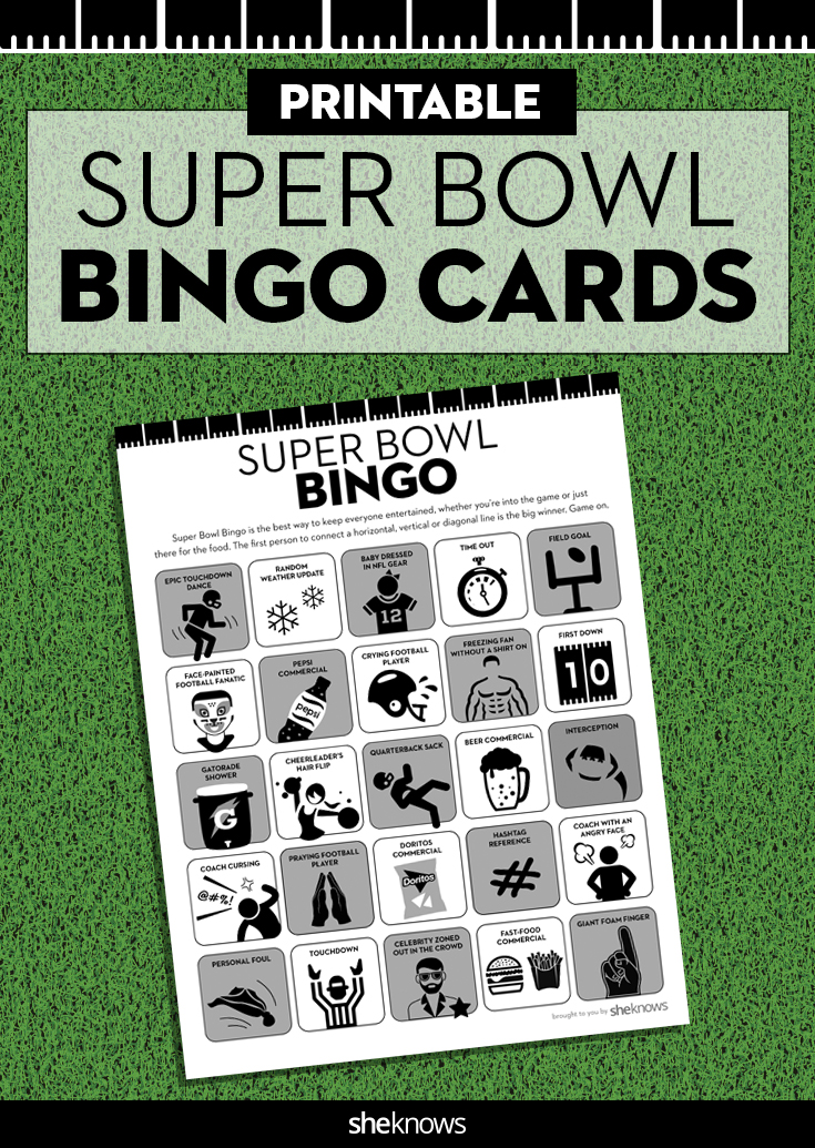 Super Bowl Bingo gets you in on a little competition too