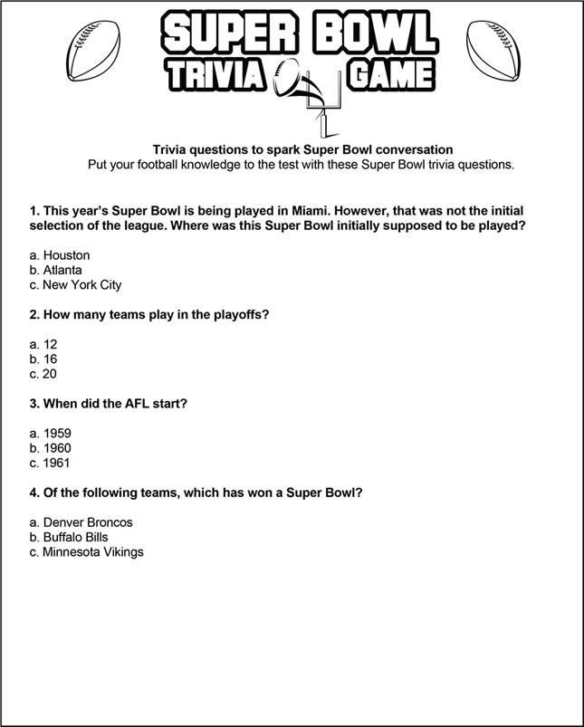 Trivia Card 1