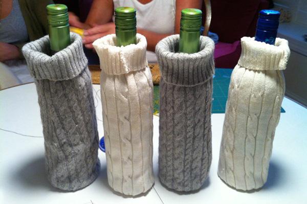 sweater wine bags