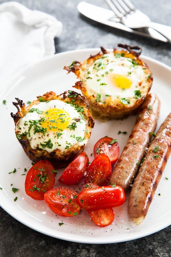 Best pregnancy foods: sweet potato egg nests