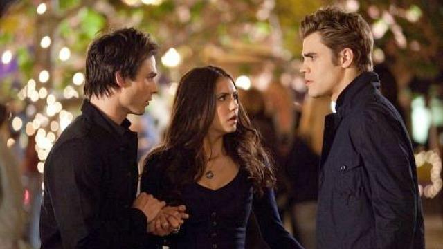 The Vampire Diaries love triangle