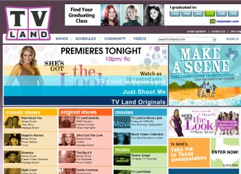 TVLand on the web begins our look at Web and TV