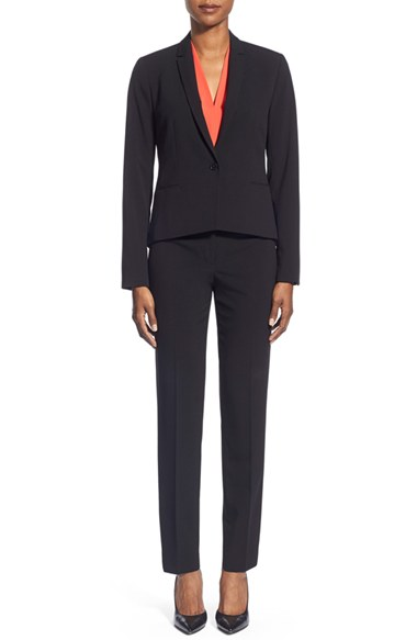 T Tahari Jacket & Straight Leg Pants