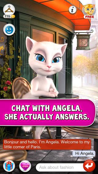 Talking Angela cat app