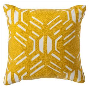 Target yellow print pillow