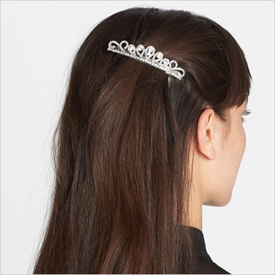 Tashy Teeny Tiara Barrette in Silver