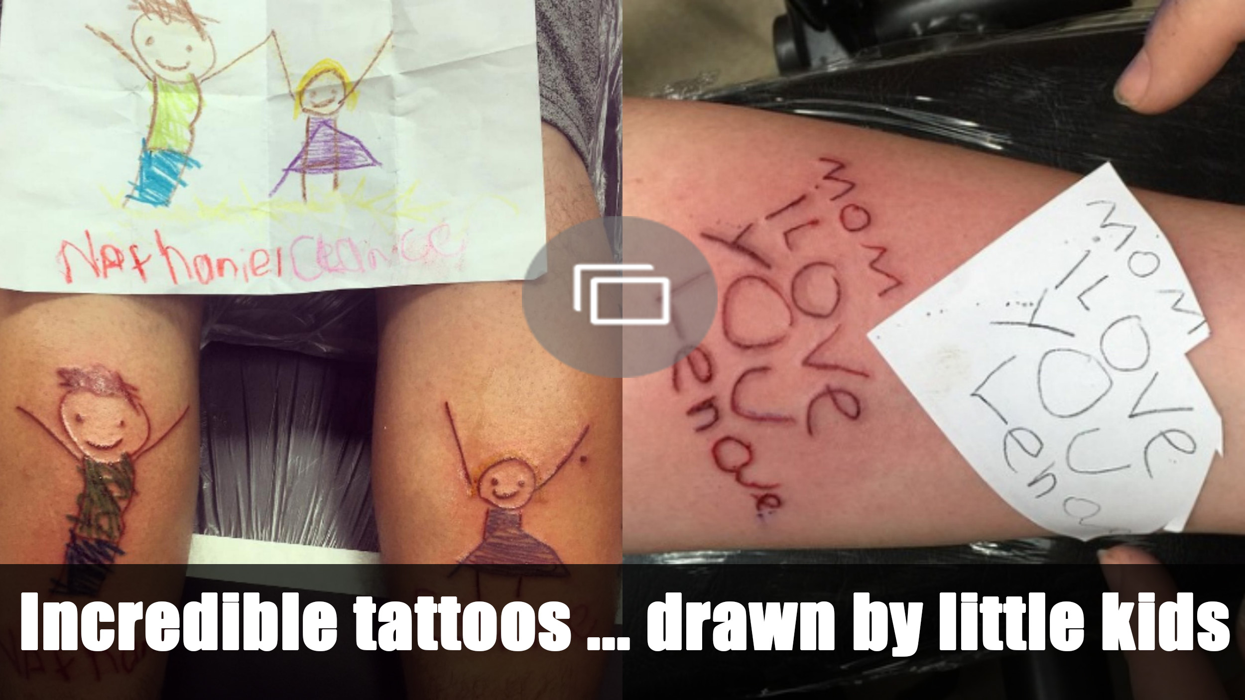tattoos drawn by kids