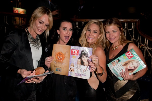 The Real Housewives of Beverly Hills, Taylor Armstrong, Kyle Richards, Adrienne Maloof, and Dana Wilkey show off TV Guide's Hot List covers