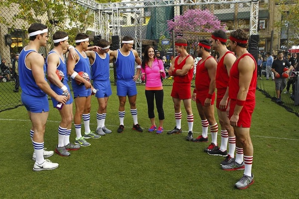 Desiree and her men play dodgeball on The Bachelorette