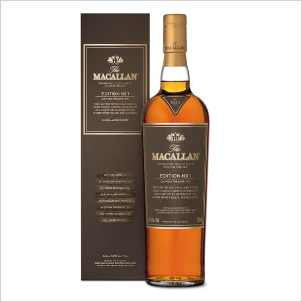 The Macallan Edition No.1 Highland Single Malt Scotch Whiskey 750ML