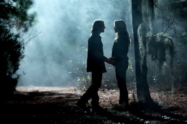 Rebekah meets someone in the woods on The Originals