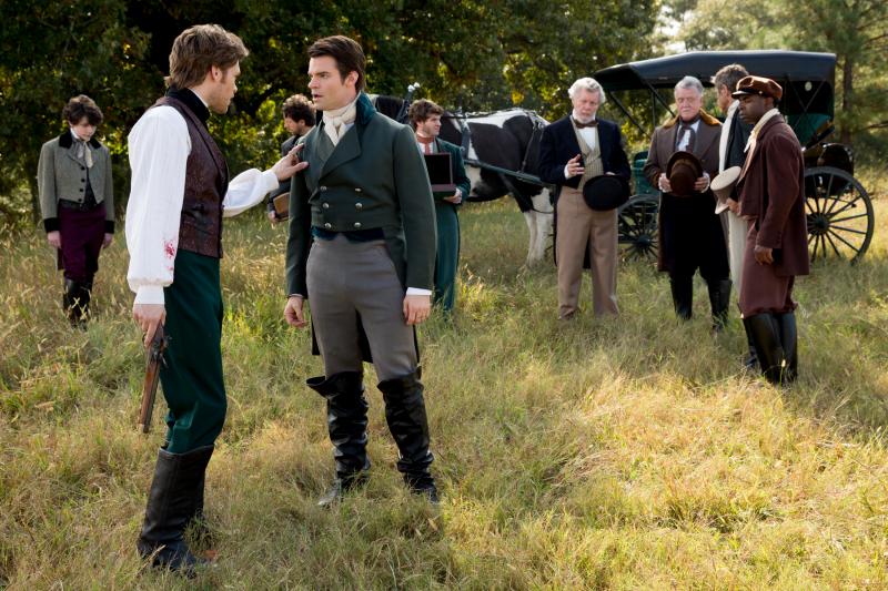 Klaus and Elijah in a flashback on The Originals