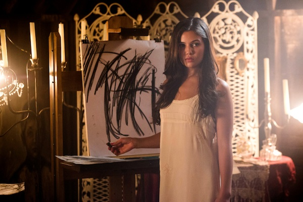 Davina draws in black in The Originals