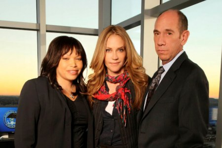 SheKnows got on set at The Protector with Tisha Cambell and Ally Walker, but not costar Miguel Ferrer