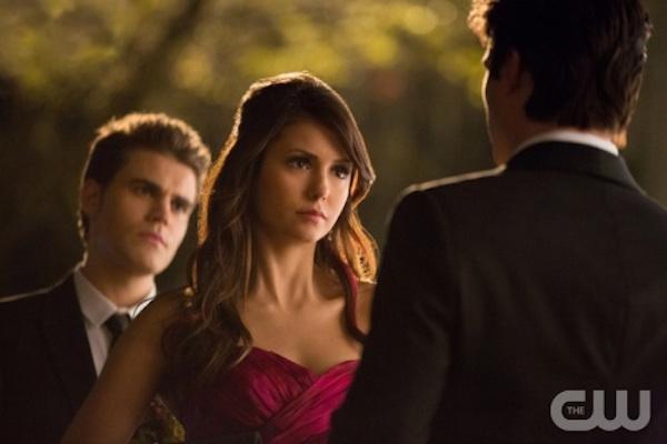 Elena, Stefan and Damon in The Vampire Diaries