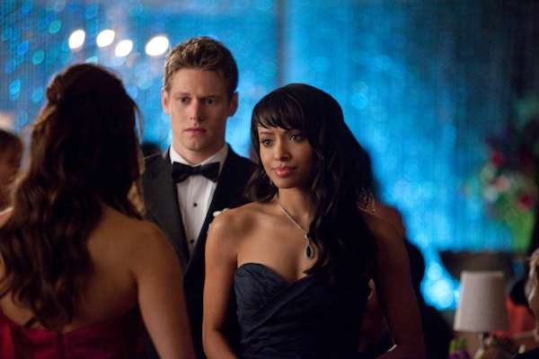 Bonnie, Matt and Elena attend prom in The Vampire Diaries