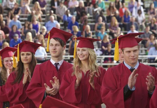 Elena and Caroline graduate in The Vampire Diaries