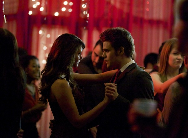 Elena and Stefan dance in The Vampire Diaries