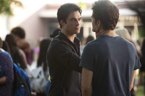 Damon threatens Silas in The Vampire Diaries
