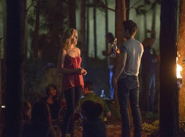 Stefan and Caroline in The Vampire Diaries
