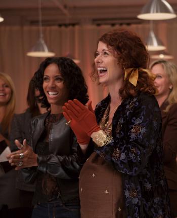 Debra and Jada share a laugh in The Women